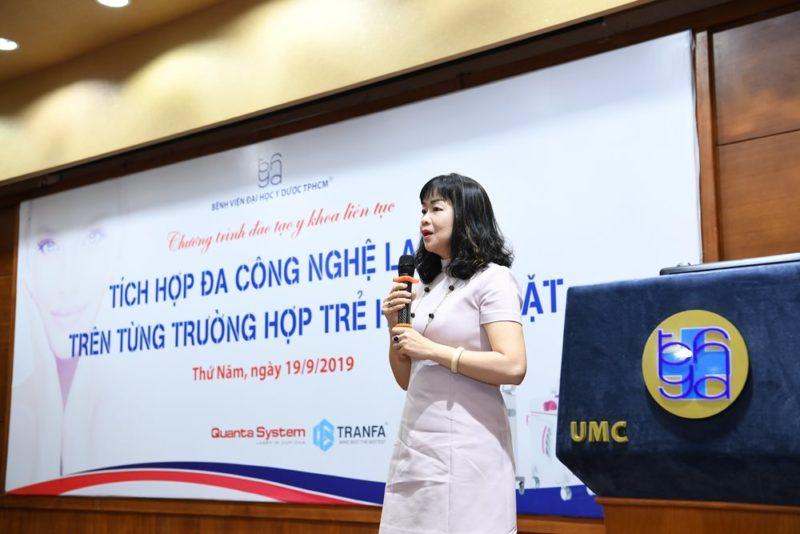 Trẻ Hóa Da được TS. BS Lê Thái Vân Thanh, Trưởng khoa Da liễu - Thẩm mỹ Da, BV ĐY Dược TPHCM, chia sẻ thông tin tại Hội thảo