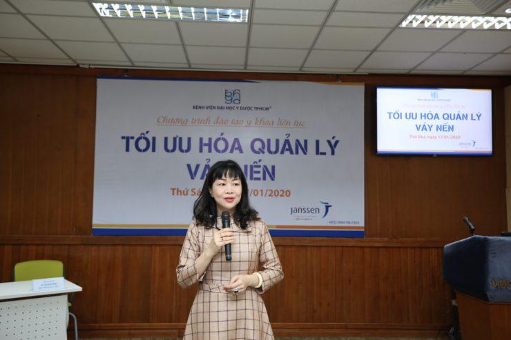 Ts bác sĩ Lê Thái Vân Thanh trưởng khoa da liễu bệnh viện đh Y Dược